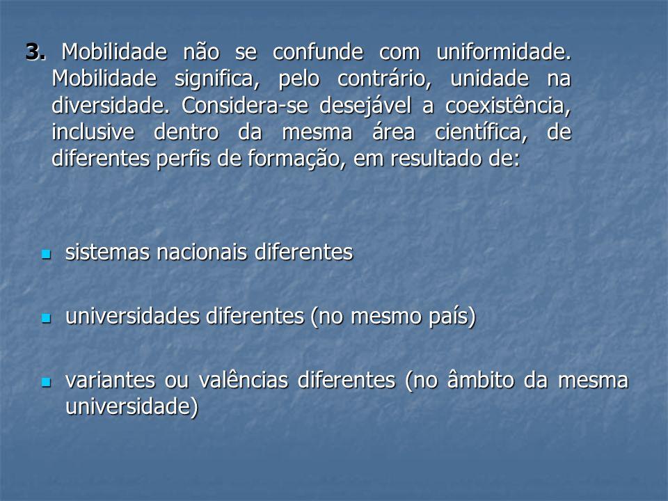 3. Mobilidade não se confunde com uniformidade. Mobilidade significa, pelo contrário, unidade na diversidade. Considera-se desejável a coexistência, i