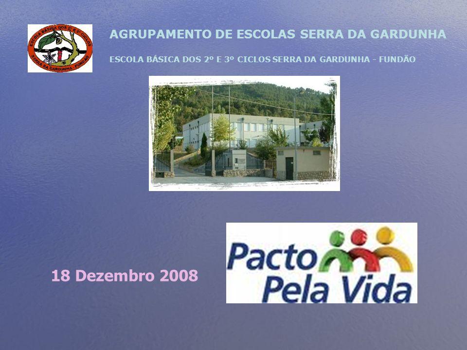 AGRUPAMENTO DE ESCOLAS SERRA DA GARDUNHA ESCOLA BÁSICA DOS 2º E 3º CICLOS SERRA DA GARDUNHA - FUNDÃO 18 Dezembro 2008