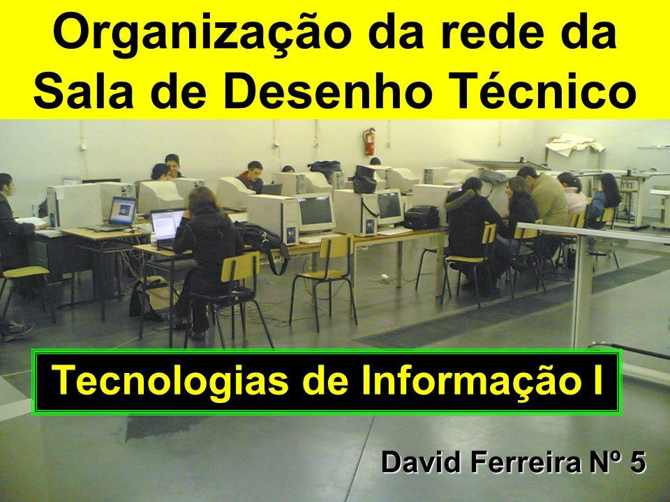 Organização da rede da Sala de Desenho Técnico Tecnologias de Informação I David Ferreira Nº 5