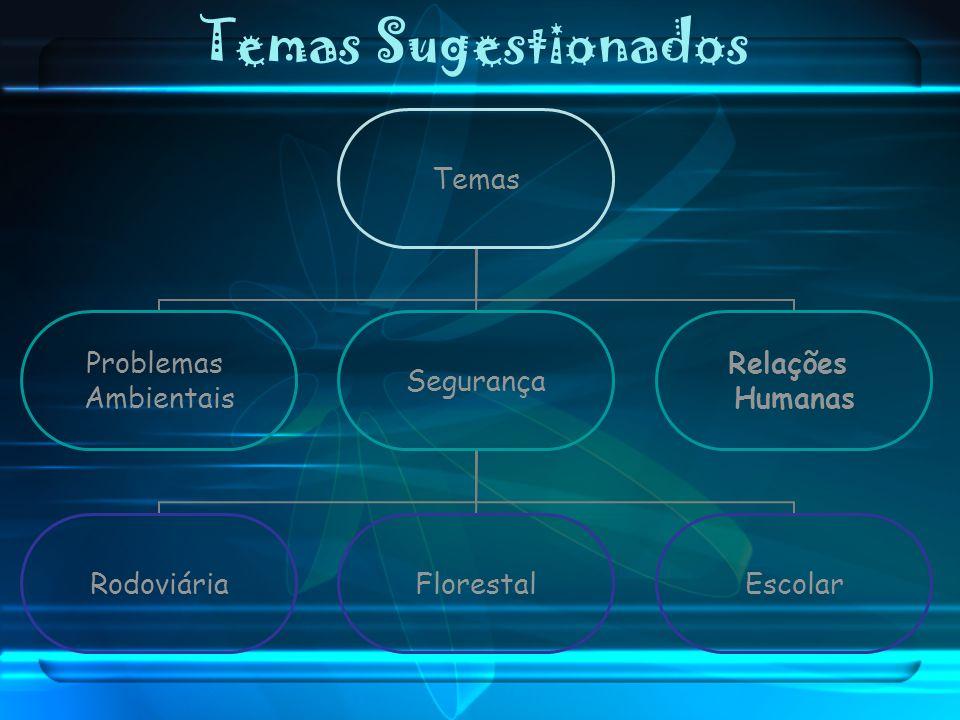 Temas Sugestionados Temas Problemas Ambientais Segurança RodoviáriaFlorestalEscolar Relações Humanas