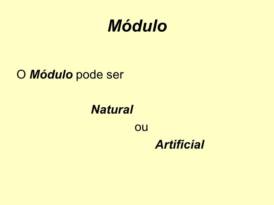 Módulo O Módulo pode ser Natural ou Artificial