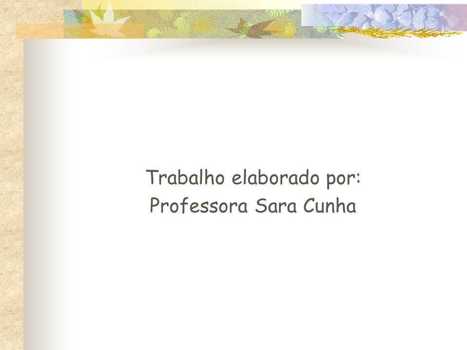 Trabalho elaborado por: Professora Sara Cunha