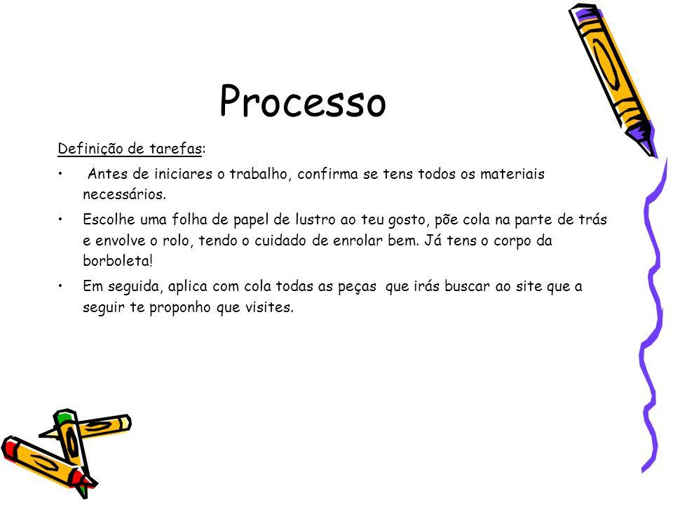 Processo Definição de tarefas: Antes de iniciares o trabalho, confirma se tens todos os materiais necessários.