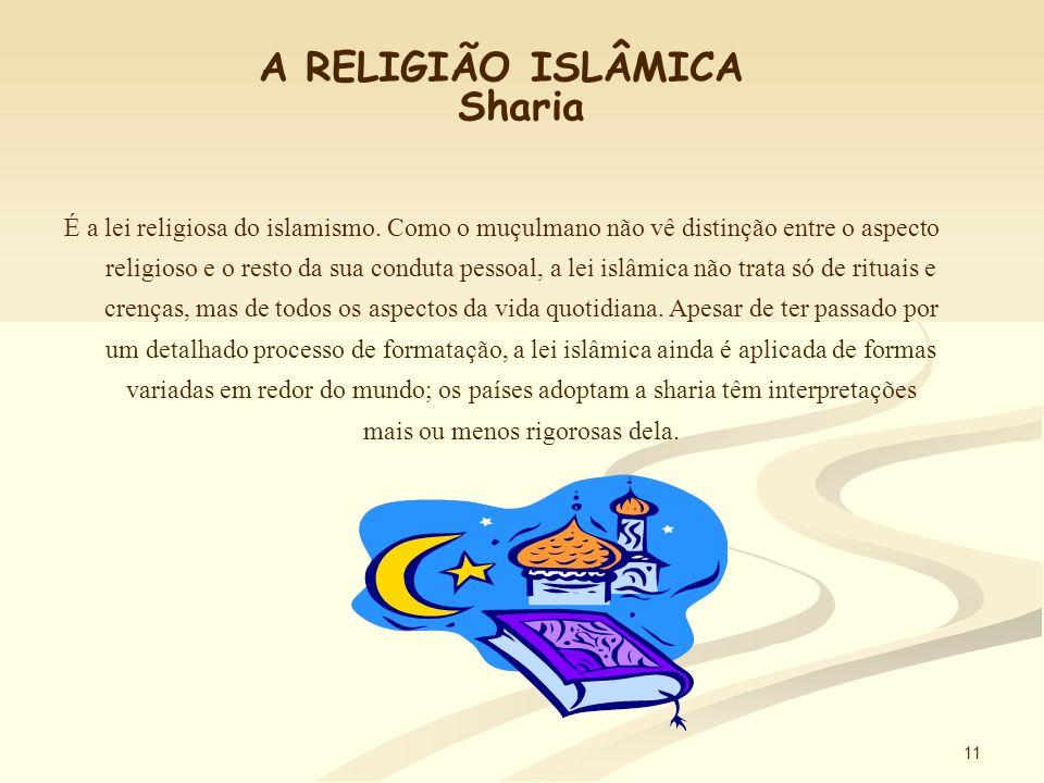 10 A RELIGIÃO ISLÂMICA O Corão É o livro sagrado dos muçulmanos que reúne todas as revelações de Deus feitas ao profeta Maomé através do anjo Gabriel.
