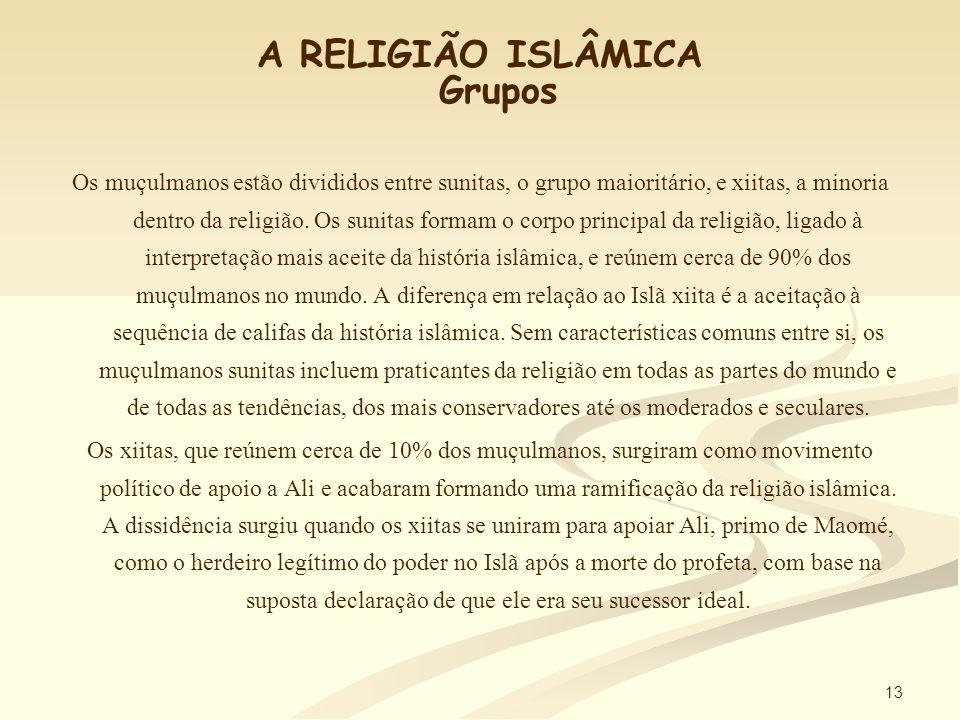 12 A RELIGIÃO ISLÂMICA Mesquitas As construções reservadas para as orações dos muçulmanos são chamadas mesquitas, ou masjids .