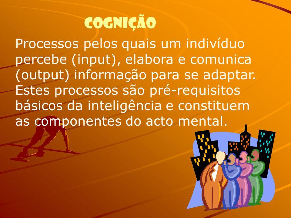 Processos pelos quais um indivíduo percebe (input), elabora e comunica (output) informação para se adaptar. Estes processos são pré-requisitos básicos
