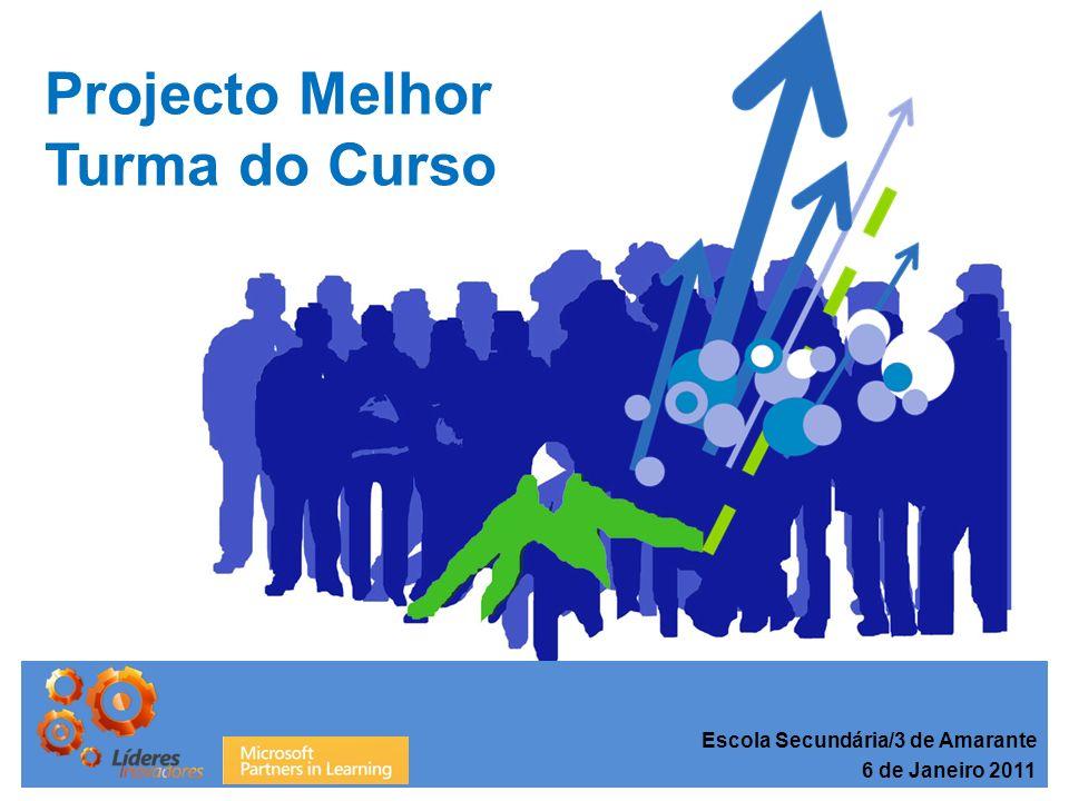Projecto Melhor Turma do Curso Análise Comparativa de Resultados Escola Secundária/3 de Amarante 6 de Janeiro 2011