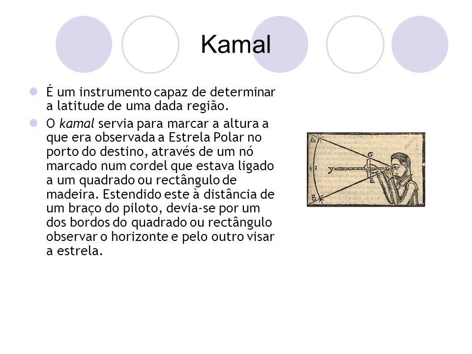 Kamal É um instrumento capaz de determinar a latitude de uma dada região.