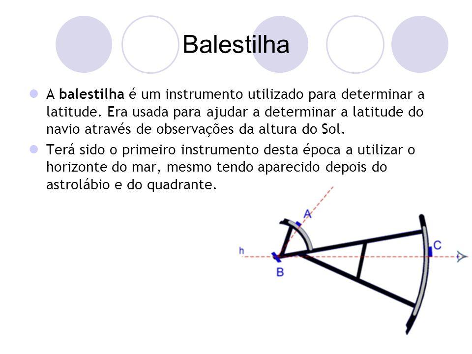 Balestilha A balestilha é um instrumento utilizado para determinar a latitude.