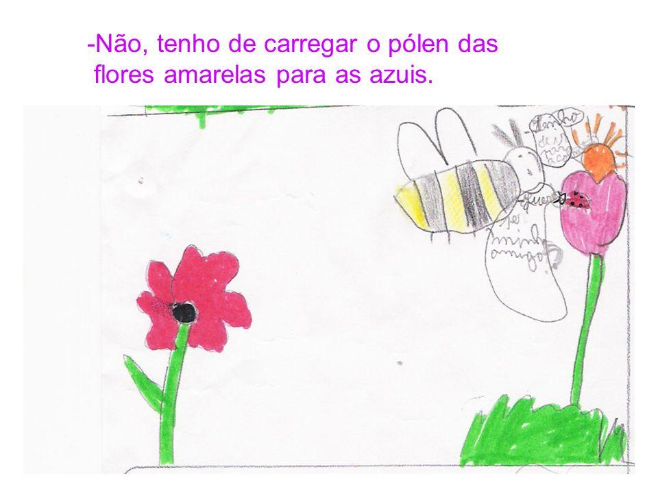 A coitadinha da joaninha ainda não tinha encontrado a amiga e procurou, procurou…Encontrou um abelhão e disse: -Queres ser meu amigo?