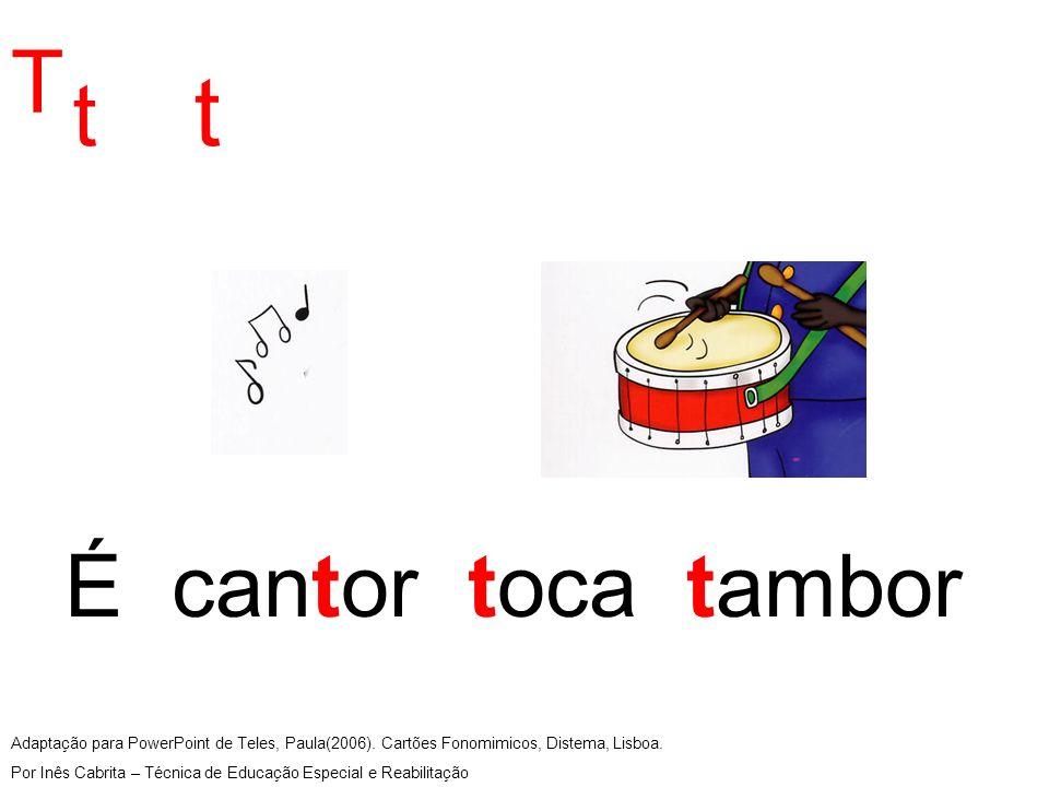 Adaptação para PowerPoint de Teles, Paula(2006). Cartões Fonomimicos, Distema, Lisboa.
