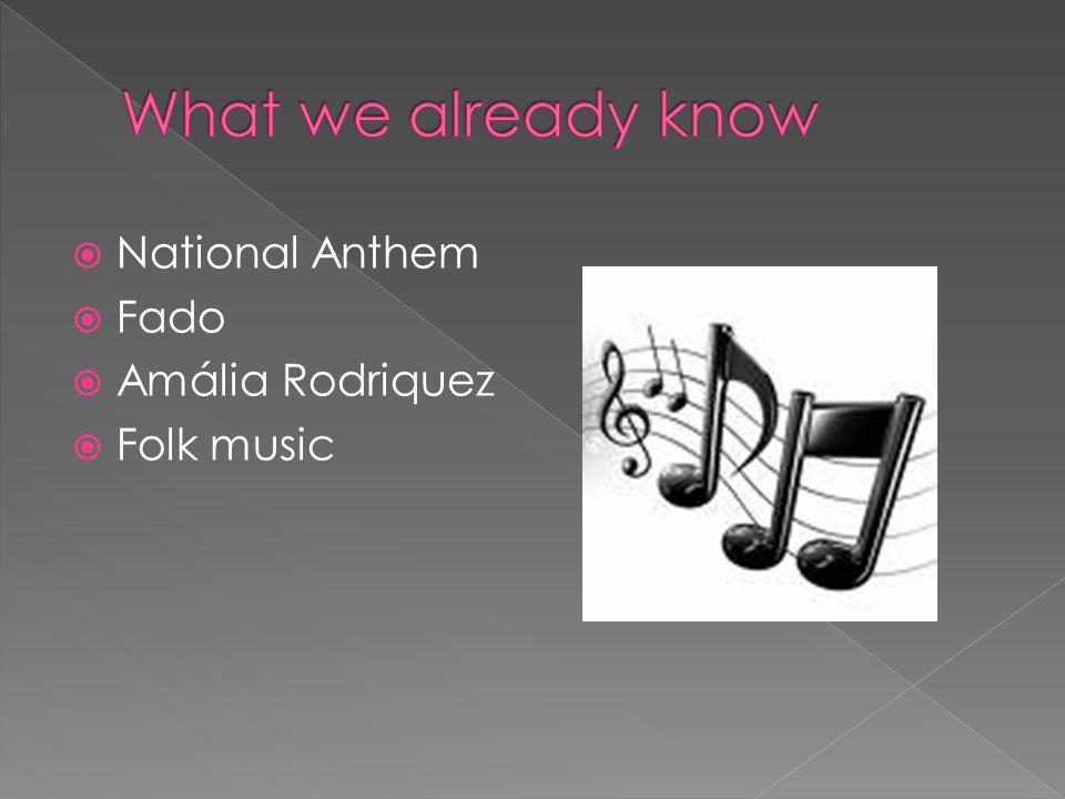 National Anthem Fado Amália Rodriquez Folk music