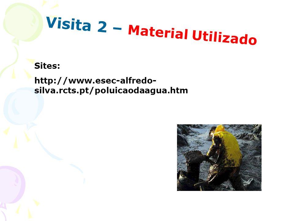 Visita 2 – Material Utilizado Sites: http://www.esec-alfredo- silva.rcts.pt/poluicaodaagua.htm