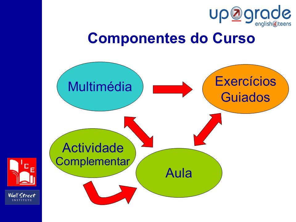 Componentes do Curso Multimédia Complementar Aula Exercícios Guiados Actividade