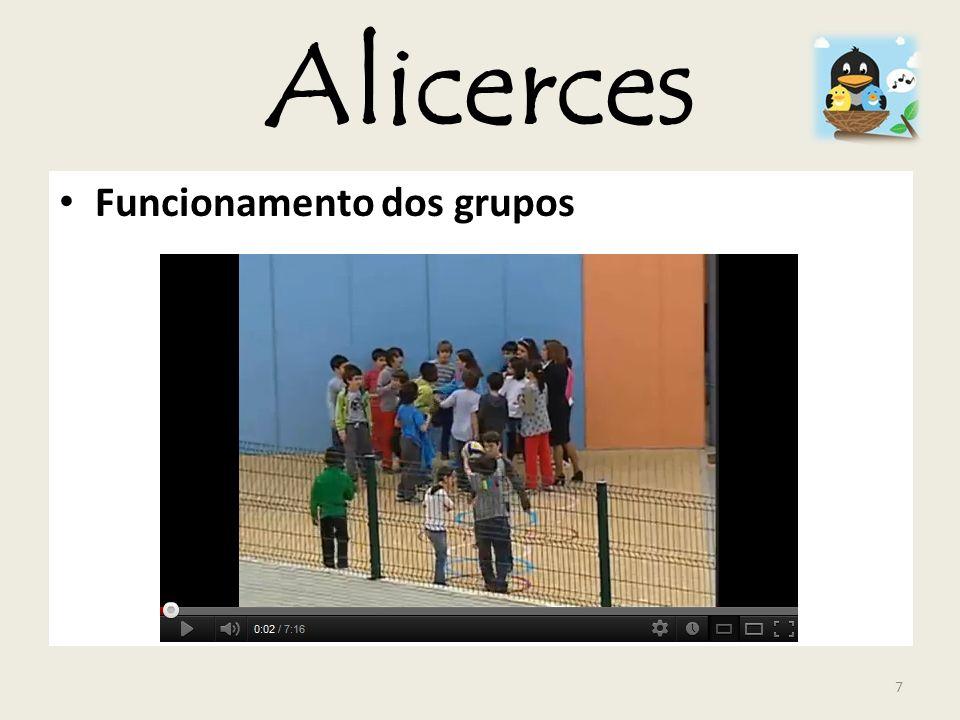 Alicerces Funcionamento dos grupos 7