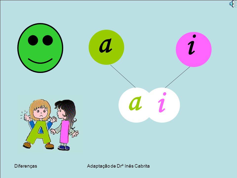 DiferençasAdaptação de Drª Inês Cabrita a i a i