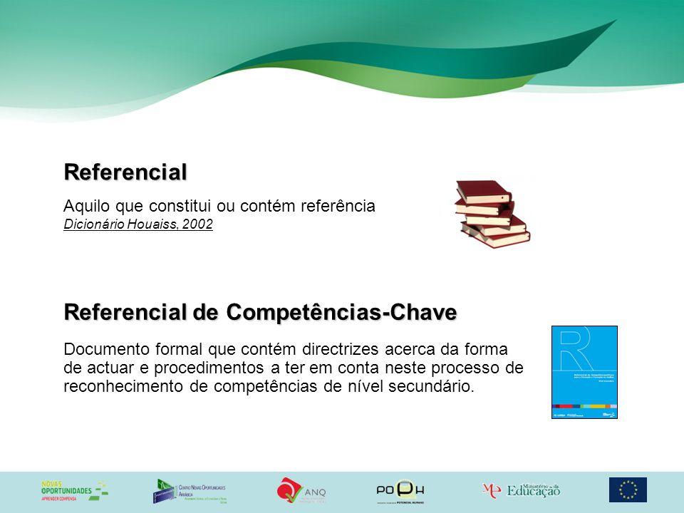 Referencial Aquilo que constitui ou contém referência Dicionário Houaiss, 2002 Documento formal que contém directrizes acerca da forma de actuar e pro
