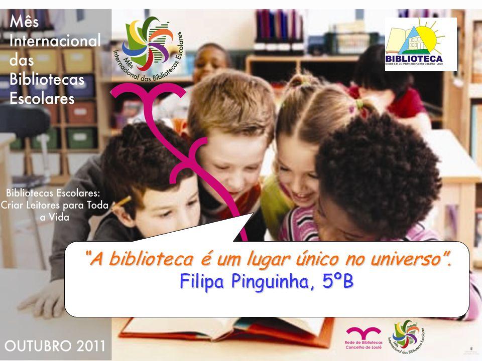 A nossa Biblioteca é um mar de sabedoria e prazer. Adriana Pereira 9ºA nº1