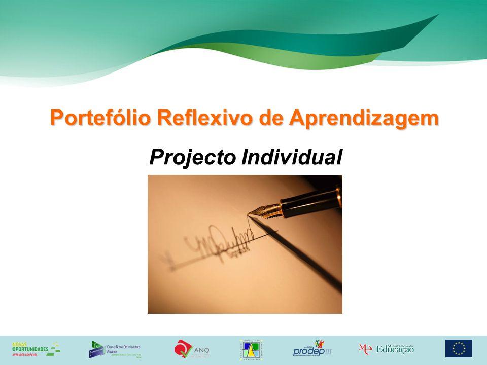 Portefólio Reflexivo de Aprendizagem Projecto Individual
