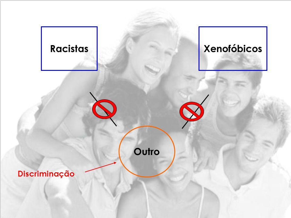 Não ao Racismo e à Xenofobia Todos diferentes, todos iguais