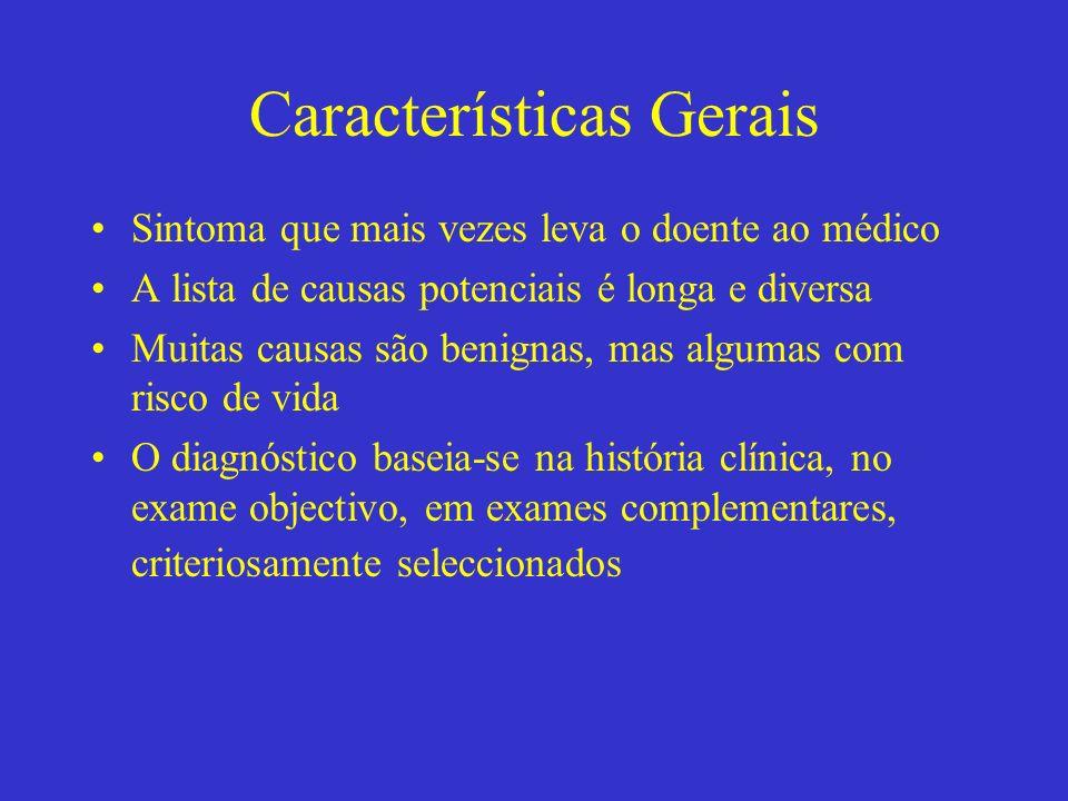 CAUSAS DE DOR TORÁCICA Cardíaca Gastrintestinal Pulmonar Outras; parede …. etc