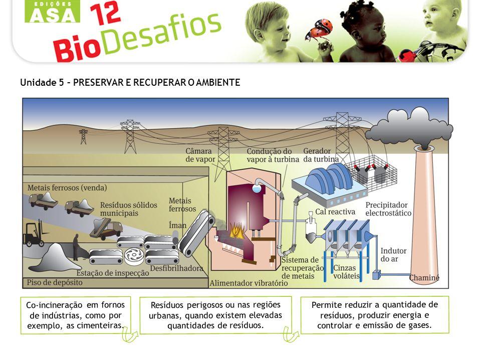 Resíduos perigosos ou nas regiões urbanas, quando existem elevadas quantidades de resíduos. Co-incineração em fornos de indústrias, como por exemplo,