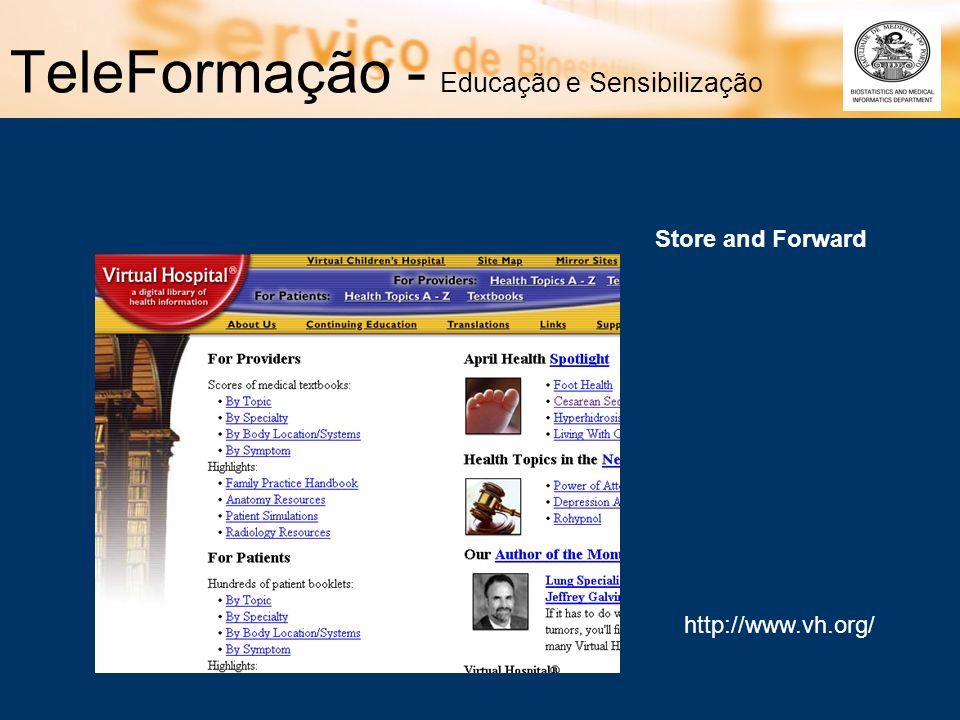 TeleFormação - Educação e Sensibilização http://www.vh.org/ Store and Forward