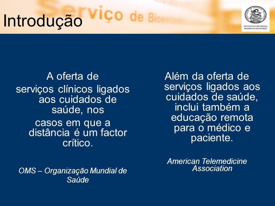 Telemedicina – Vantagens (1) Doente –Acesso facilitado a especialistas.