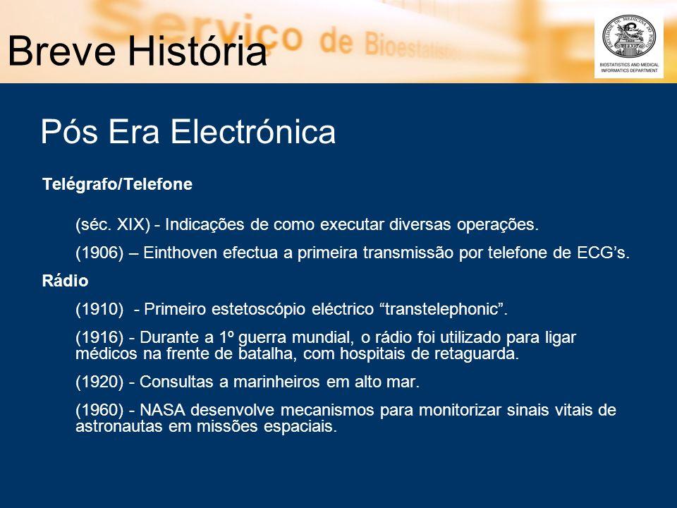 Breve História Telégrafo/Telefone (séc. XIX) - Indicações de como executar diversas operações. (1906) – Einthoven efectua a primeira transmissão por t