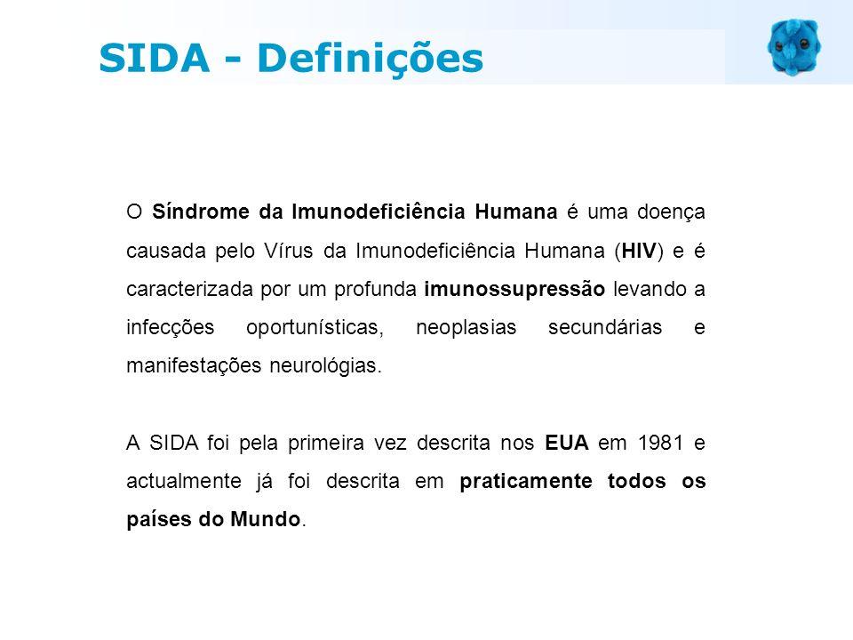 O Síndrome da Imunodeficiência Humana é uma doença causada pelo Vírus da Imunodeficiência Humana (HIV) e é caracterizada por um profunda imunossupress