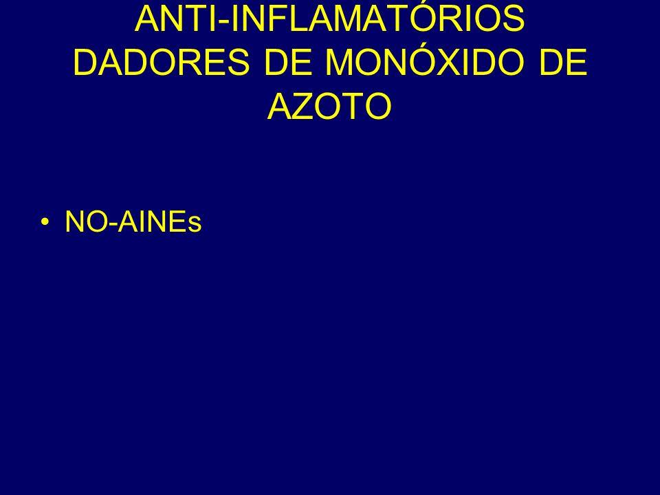 ANTI-INFLAMATÓRIOS DADORES DE MONÓXIDO DE AZOTO NO-AINEs