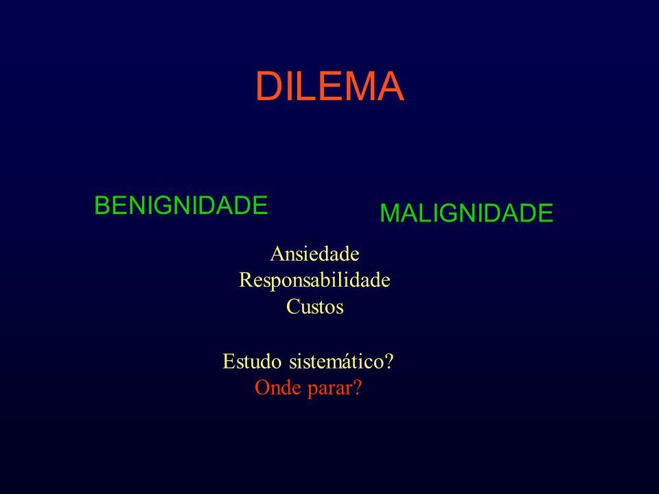 AMES A age M distant metastases E extent of the tumor Local Distância S size 2 grupos –Alto –Baixo risco