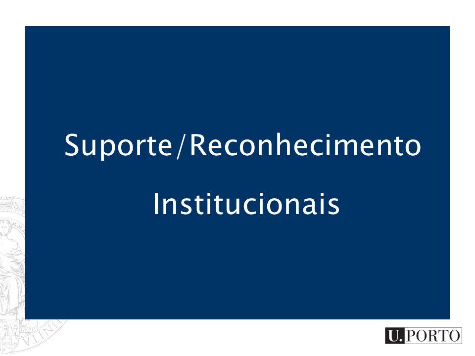 Suporte/Reconhecimento Institucionais