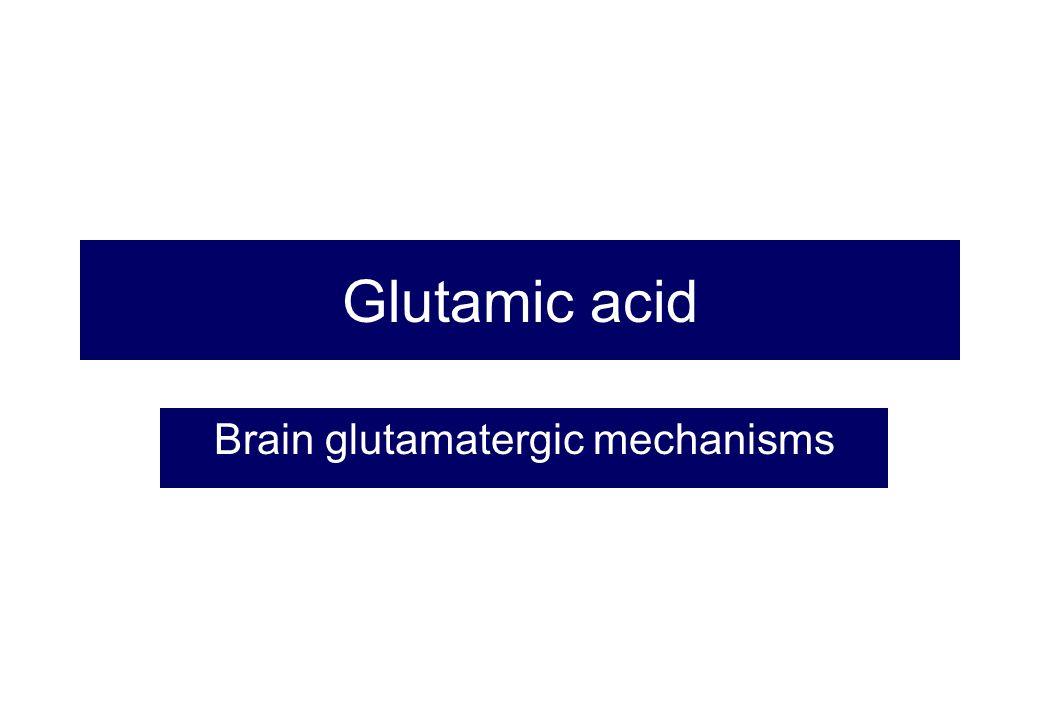 Glutamic acid Brain glutamatergic mechanisms
