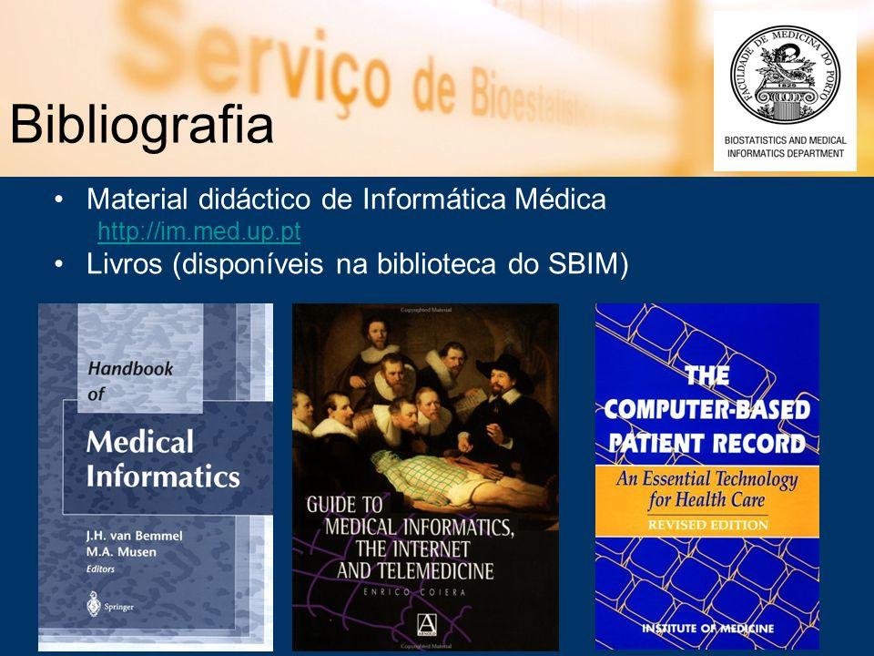 Bibliografia Material didáctico de Informática Médica http://im.med.up.pt Livros (disponíveis na biblioteca do SBIM)
