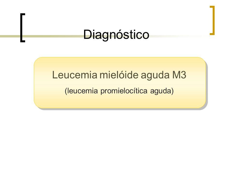 Diagnóstico Leucemia mielóide aguda M3 (leucemia promielocítica aguda)