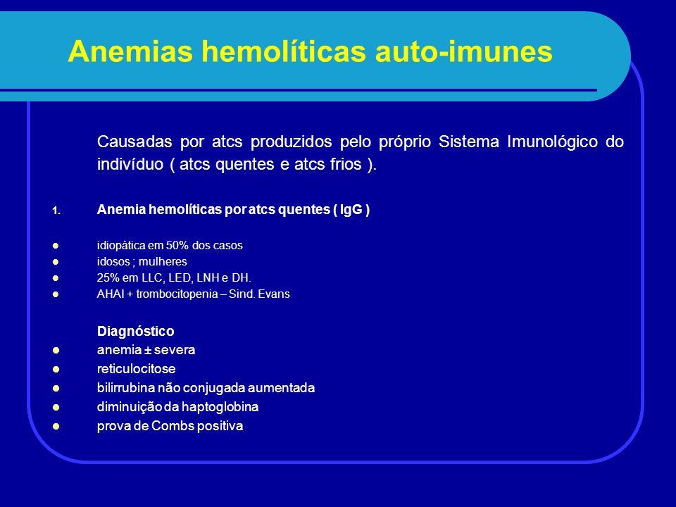 Anemias hemolíticas auto-imunes 2.