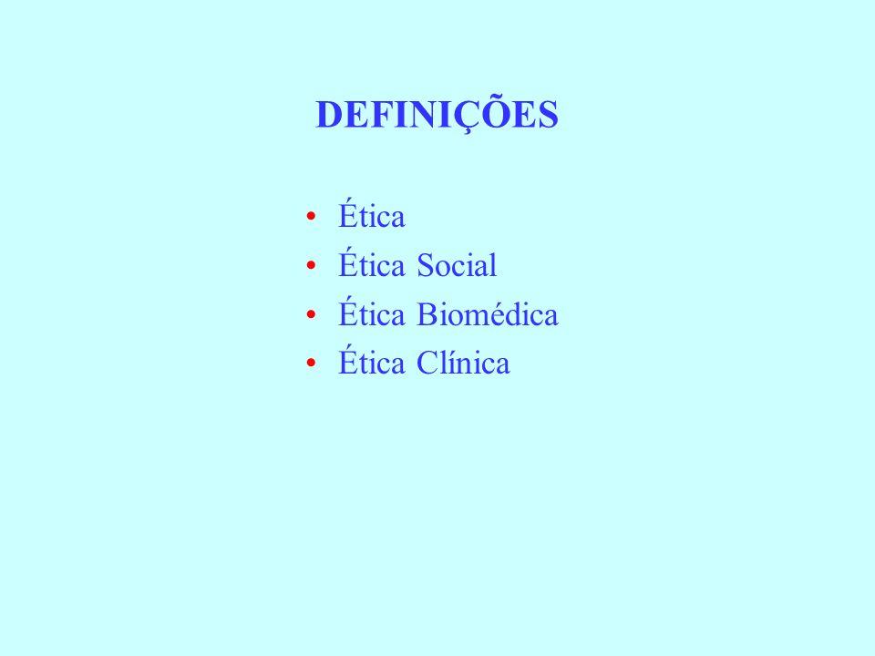 Ética Clínica : Passado e Presente Antes de 1960 - Baseado na ética profissional tradicional da medicina –O médico era decisor major –O médico era considerado uma pessoa de grande carácter e de grandes virtudes –Paternalismo