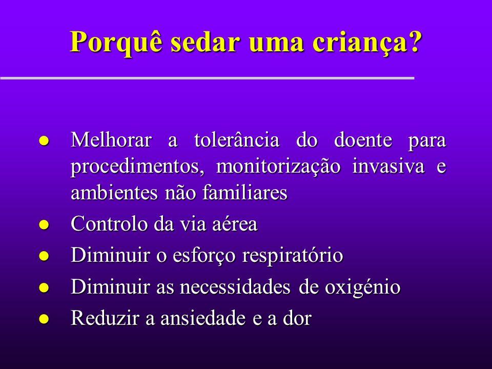 Ketamina l Anestésico dissociativo l Vantagens: –Permite analgesia e amnésia –Preserva os reflexos protectores de via aérea –Causa broncodilatação