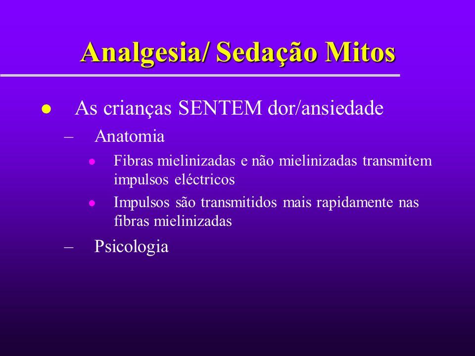 Pre-sedação História l Saúde em geral l Factores de Risco para a Sedação l Hábitos medicamentosos actuais l Alergias l Reacções anestésicas prévias Doente / História familiar l Porquê é que a sedação é necessária.