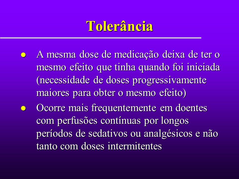 Fentanil l Opióide l Vantagens: –Analgesia –100 vezes mais potente que a morfina –Duração mais curta que a morfina l início em 2-3min; duração 30-60min - Menos libertador de histamina que a morfina - Agente reversível disponível l naloxona
