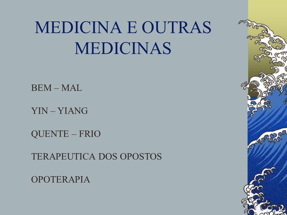 MEDICINA E OUTRAS MEDICINAS BEM – MAL YIN – YIANG QUENTE – FRIO TERAPEUTICA DOS OPOSTOS OPOTERAPIA