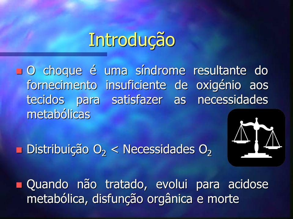 Choque Cardiogénico nEtiologia: –Disritmia –Infecção –Metabólica –Obstrutiva –Intoxicação drogas/fármacos –Cardiopatia congénita –Traumatismo