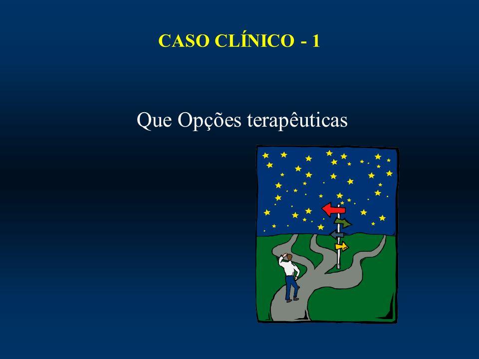 CASO CLÍNICO - 1 Que Opções terapêuticas