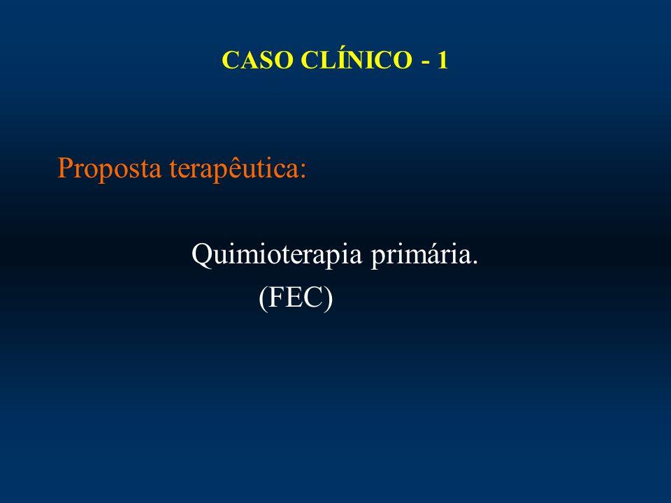 CASO CLÍNICO - 1 Proposta terapêutica: Quimioterapia primária. (FEC)