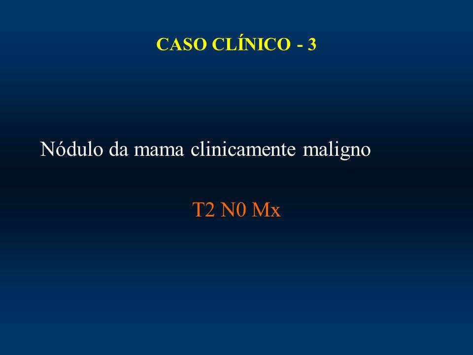 CASO CLÍNICO - 3 Nódulo da mama clinicamente maligno T2 N0 Mx