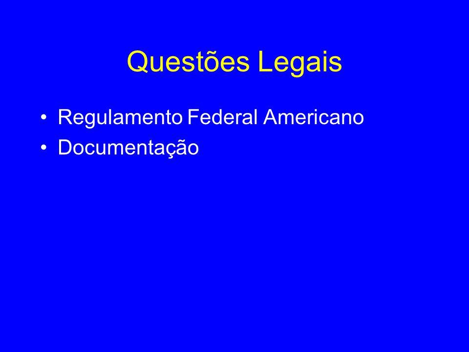 Questões Legais Regulamento Federal Americano Documentação