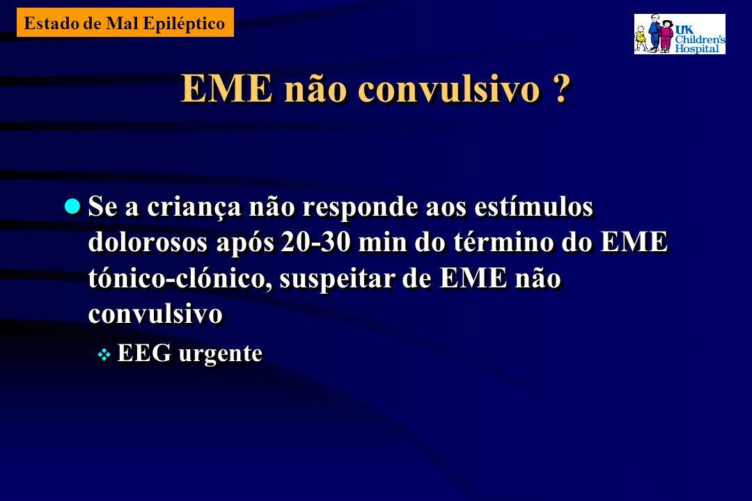 Estado de Mal Epiléptico EME não convulsivo .