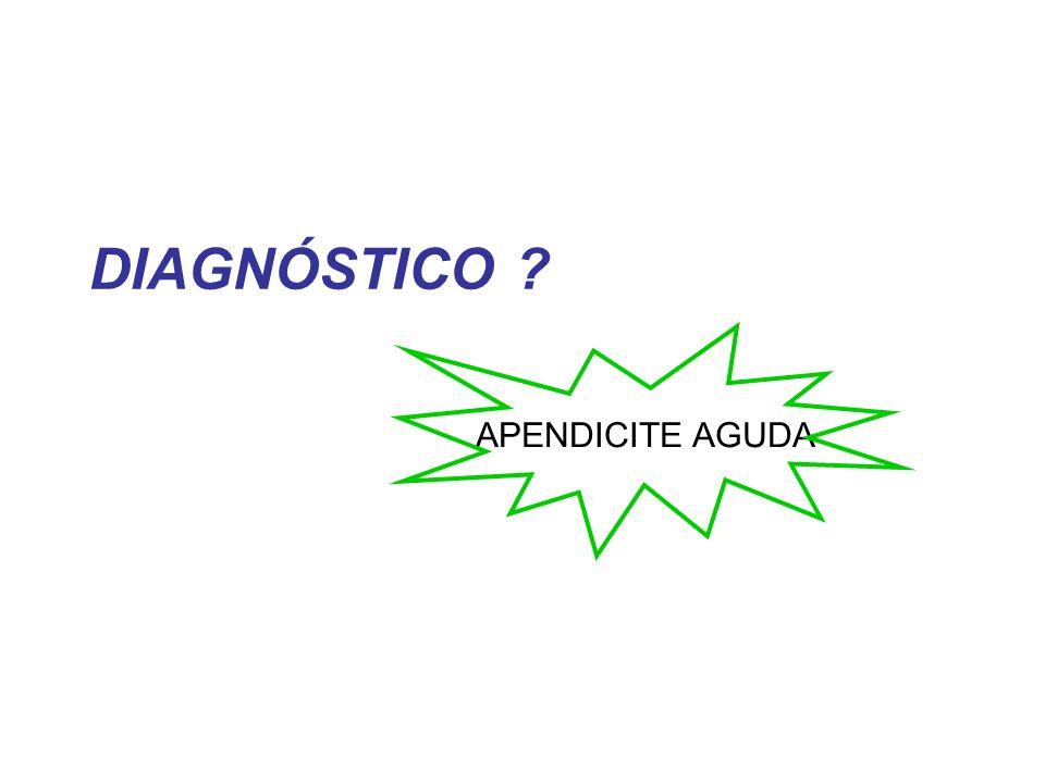 DIAGNÓSTICO ? APENDICITE AGUDA