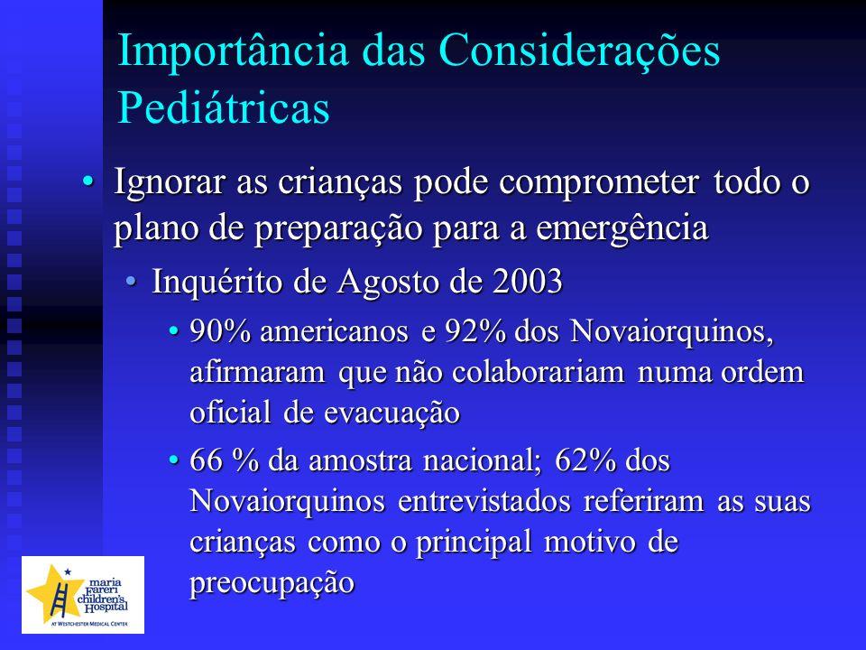 Importância das Considerações Pediátricas Ignorar as crianças pode comprometer todo o plano de preparação para a emergênciaIgnorar as crianças pode co
